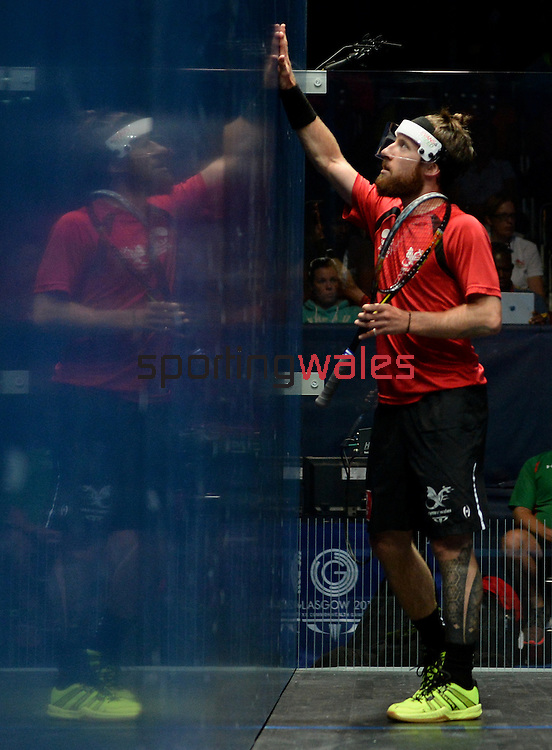 Wales David Evans and Peter Creed in action against England<br /> <br /> Photographer Ian Cook/Sportingwales<br /> <br /> 20th Commonwealth Games - Table Tennis -  Day 9 -  Friday 1st August 2014 - Glasgow - UK