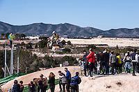 Rider jumping at Spanish Motocross Championship at Albaida circuit (Spain), 22-23 February 2014