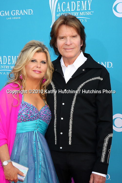 John Fogerty & Wife.arrives at the Academy of Country Music Awards 2010.MGM Garden Arena.Las Vegas, NV.April 18, 2010.©2010 Kathy Hutchins / Hutchins Photo....