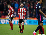 Oliver Norwood of Sheffield Utd celebrates on the final whistle during the Premier League match at Bramall Lane, Sheffield. Picture date: 9th February 2020. Picture credit should read: Simon Bellis/Sportimage