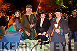Rachel O'Sullivan, Brendan O'Sullivan, Jackie Quirke and Joan Prendergast,  pictured at the Remembrance of Thomas Ashe torchlight parade in Ashe Street, on Monday night last.