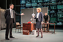 Hampstead Theatre presents HAPGOOD, by Tom Stoppard, directed by Howard Davies. Picture shows: Tim McMullan (Blair), Lisa Dillon (Hapgood), Gerald Kyd (Ridley)