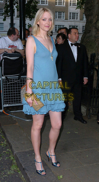 LAUREN LAVERNE.Glamour magazine's 3rd Annual Woman of the Year Awards Berkeley Square Gardens - Arrivals, London, UK. .June 6th, 2006 .Ref: CAN.full length blue dress beige clutch purse.www.capitalpictures.com.sales@capitalpictures.com.©Capital Pictures