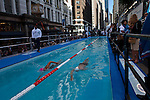 Diana Nyad Swims in NYC Intersection for Hurricane Sandy Recovery