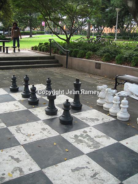 Giant chess pieces, Sydney
