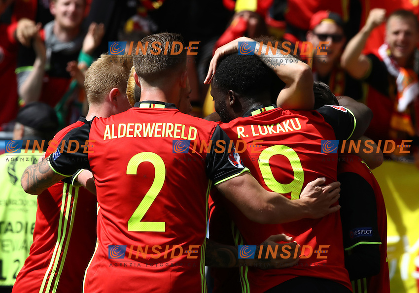 Belgium celebrating<br /> Bordeaux 18-06-2016 Nouveau Stade Footballl Euro2016 Belgium - Republic of Ireland  / Belgio - Irlanda Group Stage Group E. Foto Matteo Ciambelli / Insidefoto