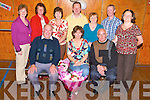Friends, family and co-workers of Christie Hanafin, Katie Roche and Anto O'Halloran, all Ardfert, seated front, gathered in The St Brendan's Community Centre, Ardfert on Sunday evening to celebrate their retirement from the centre. Standing l/r Irene Commerford, Philomena Stack, Jane Hanafin, John Joe Roche, Mary O'Halloran, Pat Murphy and Julia O'Halloran............................................................ ............   Copyright Kerry's Eye 2008