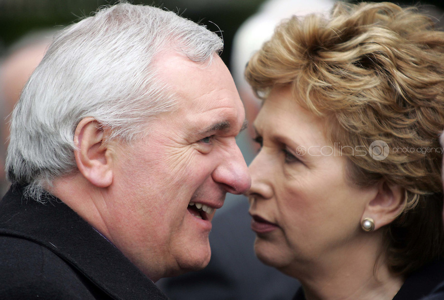 09/05/07 Taoiseach Bertie Ahern and President Mary McAleese pictured at a 1916 Commemoration Ceremony at Arbour Hill this morning...Picture Collins, Dublin, Colin Keegan.