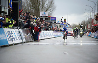 Jelle Wallays (BEL/Topsport Vlaanderen-Baloise) wins the 70th Dwars Door Vlaanderen (2015)