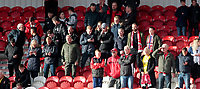 Fleetwood Town fans enjoy the match atmosphere at the Keepmoat Stadium<br /> <br /> Photographer David Shipman/CameraSport<br /> <br /> The EFL Sky Bet League One - Doncaster Rovers v Fleetwood Town - Saturday 6th October 2018 - Keepmoat Stadium - Doncaster<br /> <br /> World Copyright © 2018 CameraSport. All rights reserved. 43 Linden Ave. Countesthorpe. Leicester. England. LE8 5PG - Tel: +44 (0) 116 277 4147 - admin@camerasport.com - www.camerasport.com
