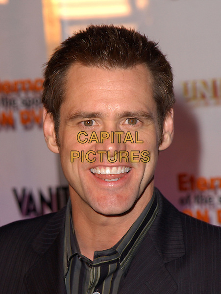 """JIM CARREY.The Universal Studios Home Video, Focus Features DVD Launch Party of """"Eternal Sunshine of the Spotless Mind"""" held at the medical offices of Lacuna Inc. in Los Angeles, California .September 23,2004.headshot, portrait.www.capitalpictures.com.sales@capitalpictures.com. Copyright 2004 by Debbie VanStory"""