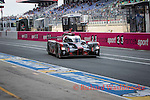 Marcel Fassler (CHE) / Andre Lotterer (DEU) / Benoit Treluyer (FRA) driving the LMP1 Audi Sport Team Joest Audi R18 Hybrid 24hr Le Mans 18th June 2016