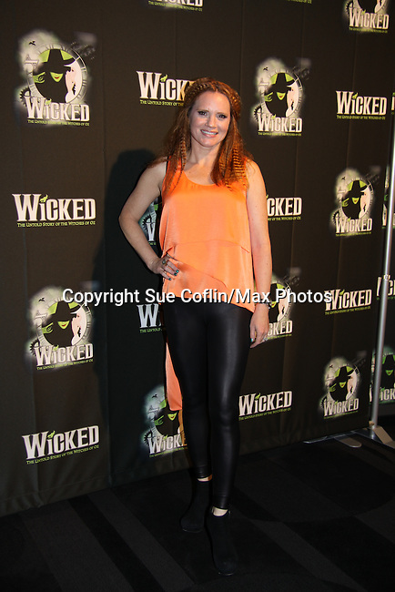 "Jennifer Laura Thompson ""Glinda"" - The blockbuster musical, Wicked, celebrates its 10th Anniversary on Broadway, a milestone achieved by only ten other Broadway productions in history on October 30, 2013 at the Gershwin Theatre, New York City followed by the red carpet at the Edison Ballroom with current, alumni and creative team.  (Photo by Sue Coflin/Max Photos)"