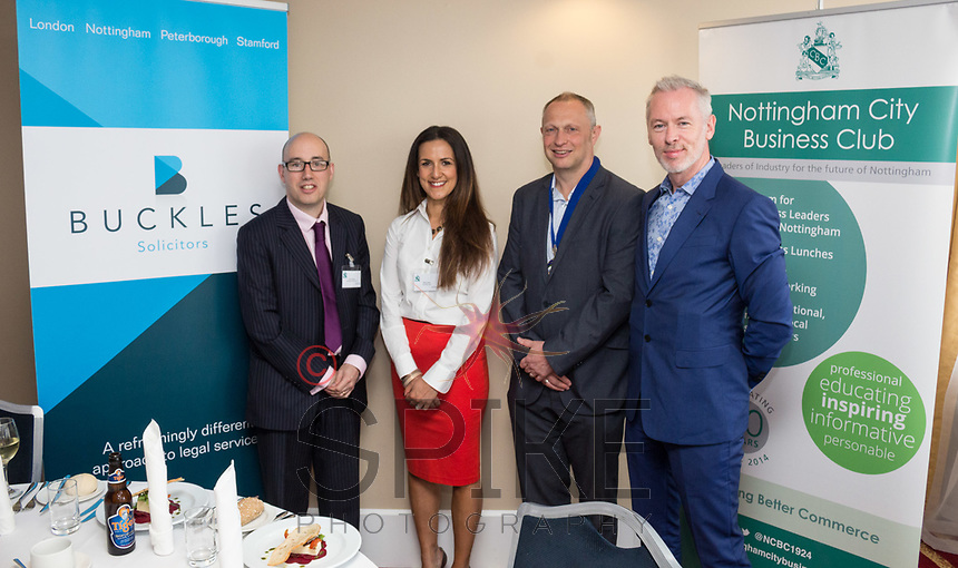Pictured from left are Luke Appleby and Nikki Aston both of NCBC sponsors Buckles Law, NCBC President Mark Deakin and guest speaker Brendan Moffett of Marketing NG