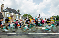 Team LottoNL-Jumbo speeding by. <br /> <br /> Stage 7: Fougères > Chartres (231km)<br /> <br /> 105th Tour de France 2018<br /> ©kramon