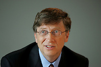 Bill Gates is interviewed at Bell Harbor Conference Center in Seattle.