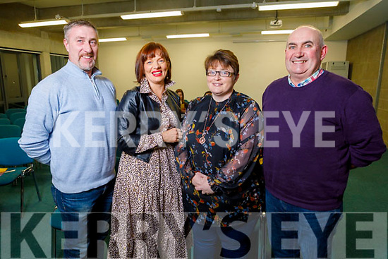Liam and Sinead Joy, Angela and Dennis Lenihan all from Ballymac attending the Kerry ETB Student Awards ceremony in the IT Tralee on Friday night.