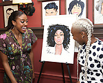 Condola Rashad with Cynthia Erivo during the Sardi's portrait unveiling for Condola Rashad at Sardi's Restaurant on May 10, 2018 in New York City.