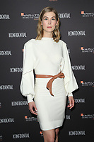 LOS ANGELES, CA - NOVEMBER 4: Rosamund Pike at the 10th Hamilton Behind the Camera Awards at Exchange LA in Los Angeles, California on November 4, 2018. <br /> CAP/MPI/FS<br /> &copy;FS/MPI/Capital Pictures