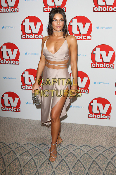 Faye Brookes at The TV Choice Awards at the Dorchester Hotel, Park Lane, London on September 5th 2016<br /> CAP/ROS<br /> &copy;Steve Ross/Capital Pictures