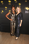 Deborah Koenigsberger - Founder & CEO of Hearts of Gold poses with actress Amy Carlson at the annual All That Glitters Gala - 24 years of support to New York City's homeless mothers and their children - (VIP Reception - Silent Auction) was held on November 7, 2018 at Noir et Blanc and the 40/40 Club in New York City, New York.  (Photo by Sue Coflin/Max Photo)