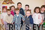 Ballyspillane Family Resource Centre childcare services celebrated their first birthday with a children's concert last week. .Back L-R Whitney and Bridget Dooley, Sonny O'Brien and Erin McGough. .Front L-R Patrick O'Brien, Scott Harris, Danny Harty and Jim O'Brien who all attend the pre-school service at the centre.
