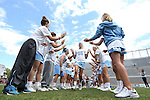 01 May 2016: North Carolina's Carly Reed (16). The University of North Carolina Tar Heels played the Syracuse University Orange at Lane Stadium in Blacksburg, Virginia in the 2016 Atlantic Coast Conference Women's Lacrosse Tournament championship match. North Carolina won 15-14 in overtime.