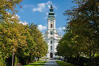 Oesterreich, Oberoesterreich, Engelhartszell: Stift Engelszell | Austria, Upper Austria, Engelhartszell: Engelszell Abbey