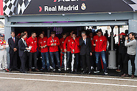 Real Madrid players participate and receive new Audi during the presentation of Real Madrid's new cars made by Audi at the Jarama racetrack on November 8, 2012 in Madrid, Spain.(ALTERPHOTOS/Harry S. Stamper) .<br />
