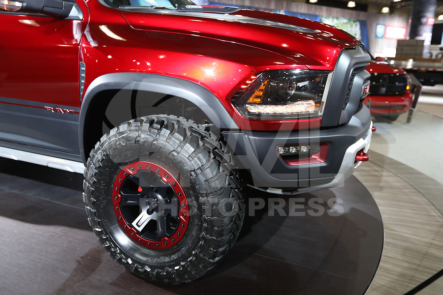 NEW YORK, EUA, 13.04.2017 - AUTOMÓVEL-NEW YORK - Ram Rebel é visto durante o New York Internacional Auto Show no Javits Center na cidade de New York nesta quinyta-feira, 13. O evento é aberto ao público do dia 14 à 23 de abril de 2017 . (Foto: Vanessa Carvalho/Brazil Photo Press)