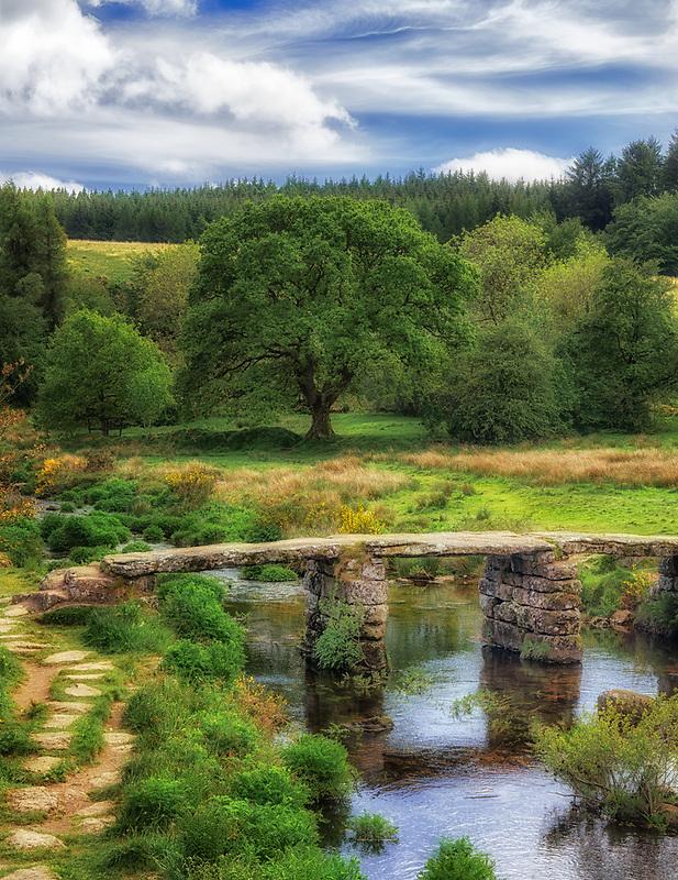 Postbridge. Dartmoor National Park, England