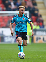 Kyle Dempsey of Fleetwood Town during the Sky Bet League 1 match between Rotherham United and Fleetwood Town at the New York Stadium, Rotherham, England on 7 April 2018. Photo by Leila Coker.