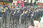 The Gleneagle pipe band marching in the Killarney St Patricks day parade on Saturday