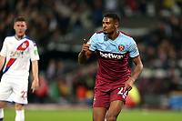 Sebastien Haller of West Ham United celebrates scoring the first goal during West Ham United vs Crystal Palace, Premier League Football at The London Stadium on 5th October 2019