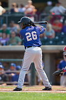 Keshawn Lynch (26) of the Missoula Osprey at bat against the Billings Mustangs at Dehler Park on August 20, 2017 in Billings, Montana.  The Osprey defeated the Mustangs 6-4.  (Brian Westerholt/Four Seam Images)