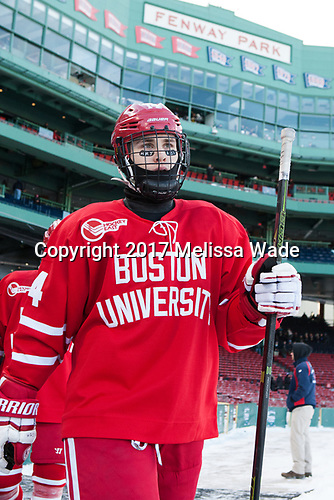 Bobo Carpenter (BU - 14) (HRJ - ABS) - The Boston University Terriers defeated the University of Massachusetts Minutemen 5-3 on Sunday, January 8, 2017, at Fenway Park in Boston, Massachusetts.The Boston University Terriers defeated the University of Massachusetts Minutemen 5-3 on Sunday, January 8, 2017, at Fenway Park.