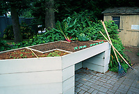 Raised vegetable bed for handicapped gardeners, senior citizens, disabled gardening at a height