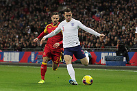 Ben Chilwell of England under pressure from Marko Vesovic of Montenegro during the UEFA Euro 2020 Qualifying Group A match between England and Montenegro at Wembley Stadium on November 14th 2019 in London, England. (Photo by Matt Bradshaw/phcimages.com)<br /> Foto PHC Images / Insidefoto <br /> ITALY ONLY