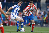 02.05.2012 SPAIN -  La Liga matchday 20th  match played between Atletico de Madrid vs Real Sociedadl (1-1) at Vicente Calderon stadium. The picture show Mario Suarez Mata (Spanish midfielder of At. Madrid)