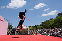 Chris O'Neill, MAY 5, 2016 - American Chris O'Neill, the first foreign full-time salaried ninja in Japan, during an event at Nagoya Castle in Nagoya, Aichi Prefecture, Japan. O'Neill joins six Japanese ninjas hired by Aichi Prefecture to promote tourism in the region.<br /> <br /> O'Neill said being a ninja was a lifelong dream. &quot;My personal goal is to protect the weak, defend the innocent, and be a guardian for those who need a guardian,&quot; he said in response to a reporter's question.<br /> <br /> O'Neill added that he was proud to perform alongside his six Japanese colleagues. &quot;We're writing the next chapter of ninja history. We're the next generation of ninja.&quot; (Photo by Ben Weller/AFLO) (JAPAN) [UHU]
