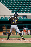 Pittsburgh Pirates Angel Basabe (87) at bat during a Florida Instructional League game against the Detroit Tigers on October 6, 2018 at Joker Marchant Stadium in Lakeland, Florida.  (Mike Janes/Four Seam Images)