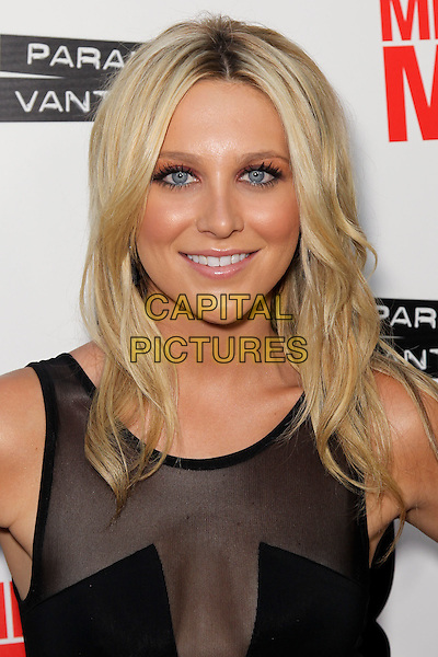"STEPHANIE PRATT.arrives to the Los Angeles Premiere of 'Middle Men,"" at the Arclight Hollywood Theatre, Los Angeles, CA, USA. .August 5, 2010. .portrait headshot sleeveless black sheer see thru through mesh .CAP/CEL .©CelPh/Capital Pictures"