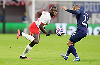 10th March 2020, Red Bull Arena, Leipzig, Germany; EUFA Champions League, RB Leipzig v Tottenham Hotspur;  Dayot Upamecano 5, RB Leipzig takes on Lucas Moura of Tottenham