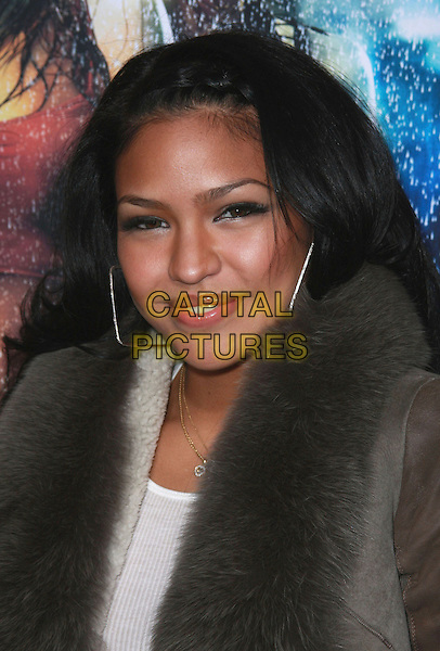 """CASSIE VENTURA.""""Step Up 2: The Streets"""" World Premiere at Arclight Cinemas, Hollywood, California, USA.February 4th, 2008.headshot portrait silver hoop earrings square .CAP/ADM/CH.©Charles Harris/AdMedia/Capital Pictures."""