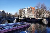 Nederland Amsterdam - Januari 2019 . Kruising Leidsegracht en Keizersgracht. Foto Berlinda van Dam / Hollande Hoogte