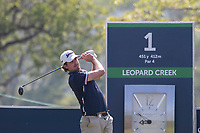 Pedro Figueiredo (POR) during the 1st round of the Alfred Dunhill Championship, Leopard Creek Golf Club, Malelane, South Africa. 28/11/2019<br /> Picture: Golffile | Shannon Naidoo<br /> <br /> <br /> All photo usage must carry mandatory copyright credit (© Golffile | Shannon Naidoo)