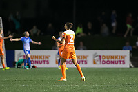 Boston, MA - Wednesday August 16, 2017: Poliana Barbosa Medeiros during a regular season National Women's Soccer League (NWSL) match between the Boston Breakers and the Houston Dash at Jordan Field.