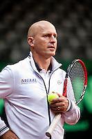 15-9-09, Netherlands,  Maastricht, Tennis, Daviscup Netherlands-France, Training, Technical director Rohan Goetske