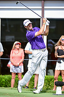 Ryan Palmer (USA) watches his tee shot on 17 during the round 1 of the Dean &amp; Deluca Invitational, at The Colonial, Ft. Worth, Texas, USA. 5/25/2017.<br /> Picture: Golffile | Ken Murray<br /> <br /> <br /> All photo usage must carry mandatory copyright credit (&copy; Golffile | Ken Murray)
