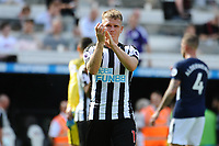 Matt Ritchie of Newcastle United applauds fans at the final whistle during Newcastle United vs Tottenham Hotspur, Premier League Football at St. James' Park on 13th August 2017